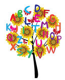 Alphabet tree Royalty Free Stock Image