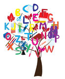 Alphabet tree stock illustration