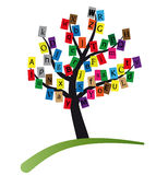 Alphabet tree Stock Photos