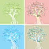 ALPHABET TREE CONCEPT ECO CONSERVE Royalty Free Stock Photography
