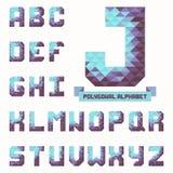 Alphabet triangulaire polygonal en entier À la mode composé dans le vecteur illustration libre de droits