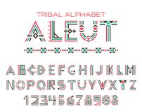 Alphabet tribal d'Aleut illustration stock