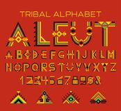 Alphabet tribal d'Aleut illustration libre de droits
