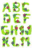 Alphabet Tropical Floral A to M Royalty Free Stock Photography