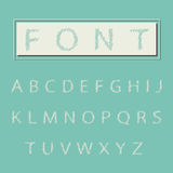 Alphabet type font, vintage typography. Stock Image