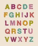 Alphabet. Typographic alphabet  design template Stock Image