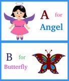 Alphabet A und B lizenzfreie abbildung