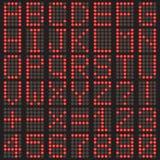 Alphabet und Zahlen Lizenzfreies Stockfoto