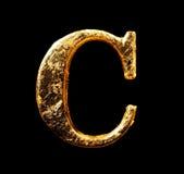 Alphabet und Zahlen im Goldblatt Lizenzfreies Stockfoto