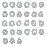 Alphabet unusual, steel Stock Image
