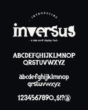 Alphabet. Uppercase, lowercase letters, numbers and symbols. Vector font on black background. Uppercase, lowercase letters, numbers and symbols. Lettering Royalty Free Stock Photography