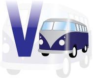 Alphabet V für Packwagen Lizenzfreie Stockfotografie