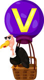 Alphabet V for vulture Royalty Free Stock Photography