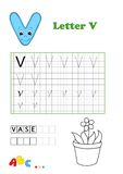 Alphabet, vase. Illustration of an educational activity for children Royalty Free Stock Images