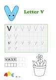 Alphabet, vase Royalty Free Stock Images