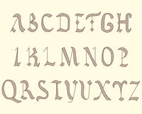 Alphabet Vatican in eighth century style Stock Photos