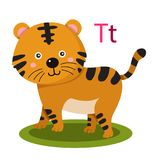 T alphabet vector animal. Alphabet vector animal for kid and education royalty free illustration