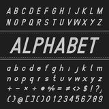 Alphabet Vector Font Design (Bold) Royalty Free Stock Images