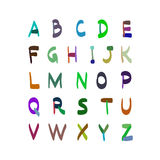 Alphabet vector hand drawn illustration. Set of icons. Stock Images