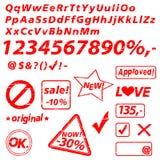 Alphabet - vector set Stock Photos