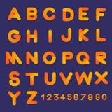 Alphabet vector set 3D bubble font style gradient colors. Flat d. Esign Illustrate Stock Photos
