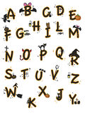 Alphabet veille de la toussaint Photographie stock libre de droits