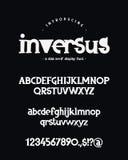Alphabet Versalien-, Kleinbuchstaben, Zahlen und Symbole lizenzfreie abbildung