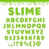 Alphabet vert de boue de vecteur Photographie stock libre de droits
