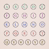 Alphabet. Vintage frame of ornament vector icons Royalty Free Stock Images