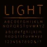 Alphabet von Lichtern Lizenzfreies Stockfoto