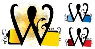 Alphabet w vector Royalty Free Stock Photo