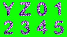 Alphabet from water bubble isolated on a green background. royalty free illustration
