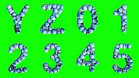 Alphabet from water bubble isolated on a green background. stock illustration