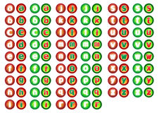 Alphabet web button Royalty Free Stock Photo