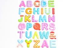 Alphabet on white background Royalty Free Stock Images