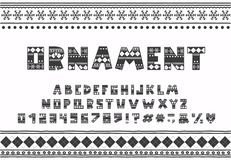 Free Alphabet Winter Ornament Design. Letters, Numbers And Punctuation Marks. EPS 10 Stock Photos - 132728953