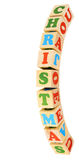 Alphabet wood blocks forming the word christmas Stock Image