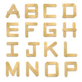 Alphabet wood ice cream stick Stock Photos