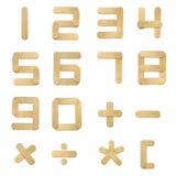 Alphabet wood ice cream stick Stock Photos