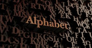 Alphabet - Wooden 3D rendered letters/message Royalty Free Stock Photos