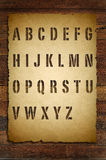 Alphabet wooden font Stock Image