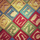 Alphabet Wooden Letters Stock Photo
