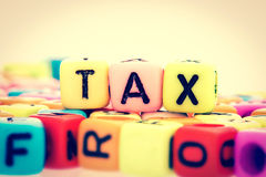 Alphabet  word cube of  TAX Stock Photography