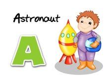 Alphabet workers - astronaut Royalty Free Stock Photos