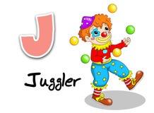 Alphabet workers - juggler royalty free stock image