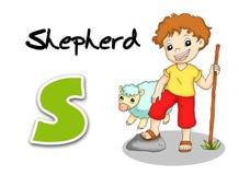 Alphabet workers - shepherd Stock Photography