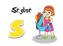 Alphabet workers - stylist Stock Image