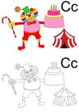 Letter c  worksheet Royalty Free Stock Photo
