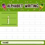 Alphabet writing royalty free stock photos