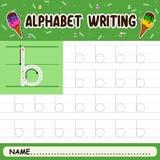 Alphabet writing royalty free stock photo